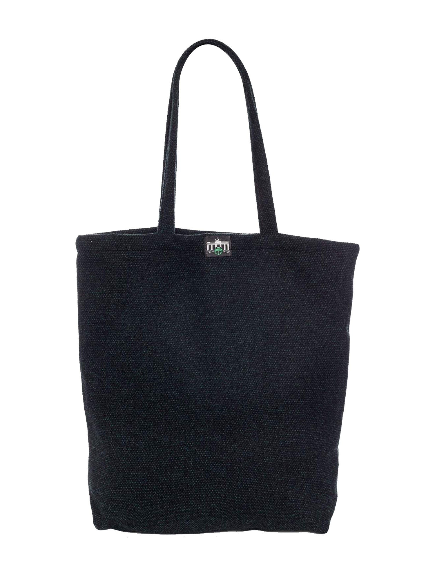 Schwarz-gruene Tasche