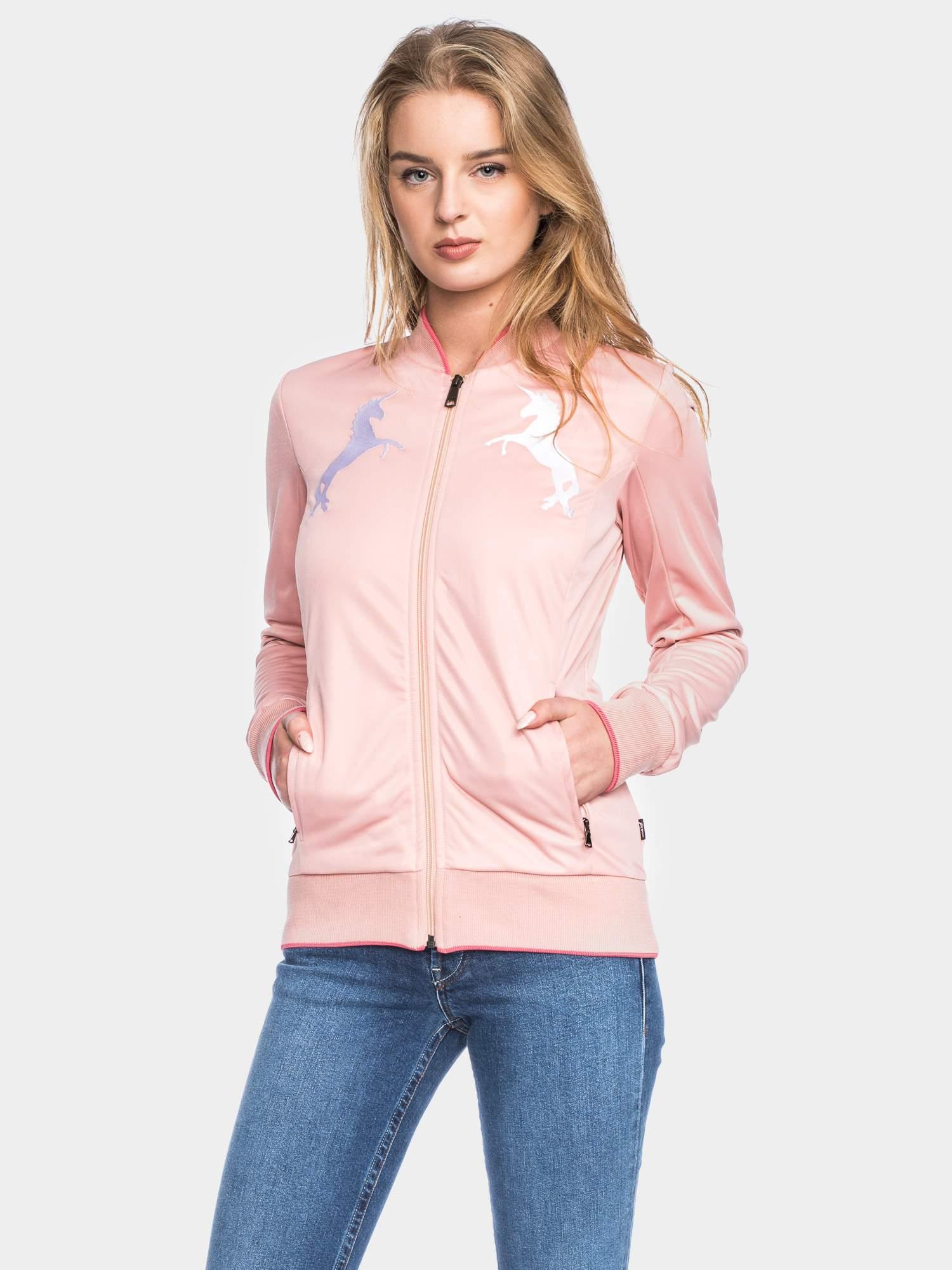 Pinke Trainingsjacke