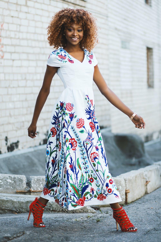 Weißes Sommer Kleid